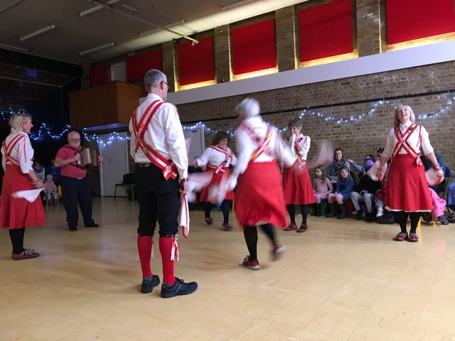 Vigorous Morris dancing