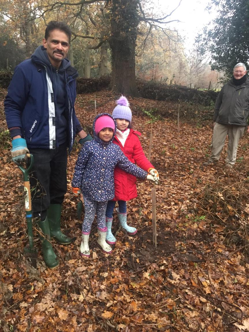 Tree planting at Grosvenor and Hilbert Park, Tunbridge Wells today 3!