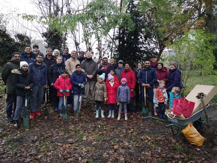 Tree planting at Grosvenor and Hilbert Park, Tunbridge Wells today!