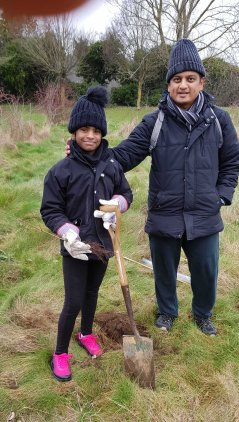 7 104932 Some truly amazing young people from Trees of Love and the NAMA group were planting trees for our future at New Addington 2018 12 15 2